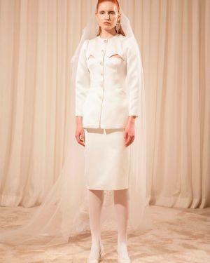 Biała spódnica ołówkowa Sandra Mansour