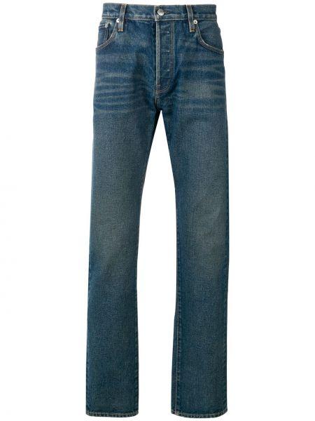 Niebieskie jeansy bawełniane perły Simon Miller