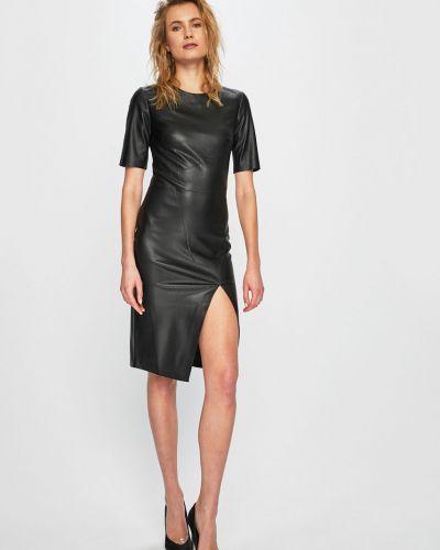 Платье мини кожаное однотонное Answear