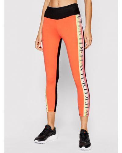 Pomarańczowe legginsy Deha