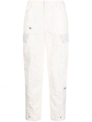 Белые прямые брюки Maharishi