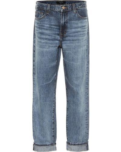 Ватные хлопковые синие джинсы бойфренды J Brand