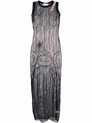 Czarna sukienka z haftem Charles Jeffrey Loverboy