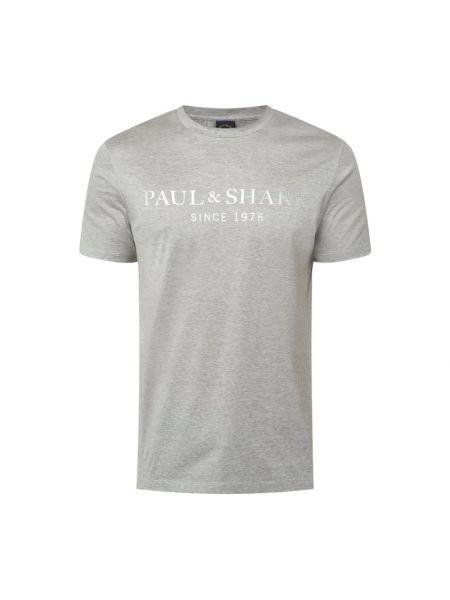 T-shirt bawełniana z printem Paul & Shark