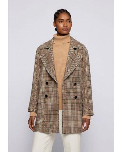 Бежевое пальто летнее Boss
