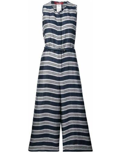 Платье в полоску - синее Max Mara Studio