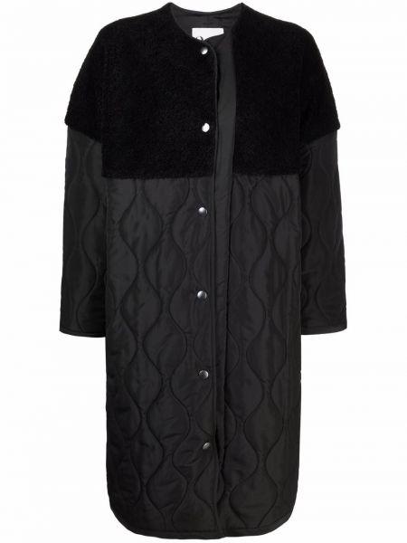 Черное длинное пальто 8pm