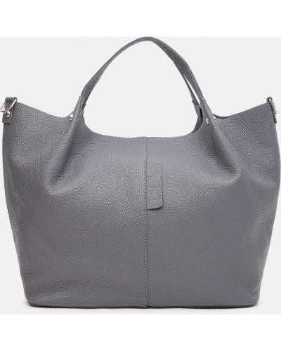 Кожаная сумка - серая Palmera