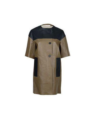 Кожаное пальто пальто весеннее Marni