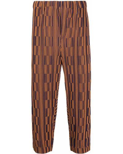 Черные укороченные брюки с поясом Homme Plissé Issey Miyake