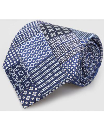 Шелковый деловой синий галстук Stefano Ricci