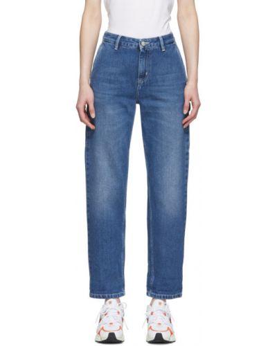 Biznes niebieski jeansy z kieszeniami z łatami Carhartt Work In Progress