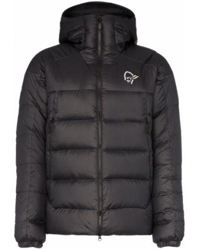 Черная куртка с капюшоном на молнии Norrona