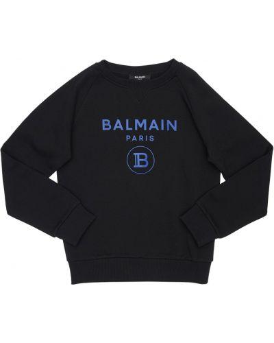 Свитшот с логотипом на шею Balmain