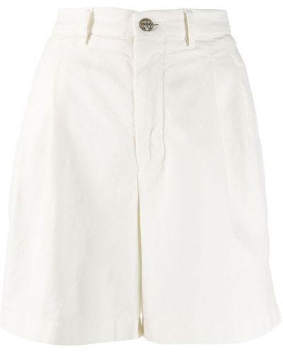 Белые шорты с карманами на пуговицах Berwich