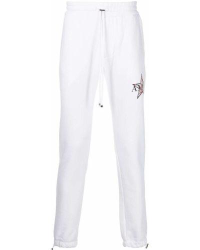 Белые брюки с нашивками Amiri