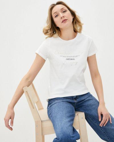Белая футболка с короткими рукавами Defacto