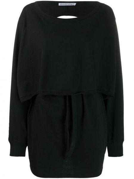 Платье с открытой спиной в рубчик T By Alexander Wang