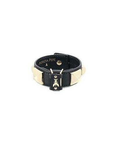 Черный кожаный браслет Patrizia Pepe