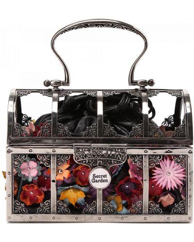 Комбинированная сумка металлическая Braccialini