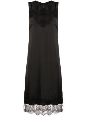 Czarna sukienka wieczorowa koronkowa asymetryczna N°21