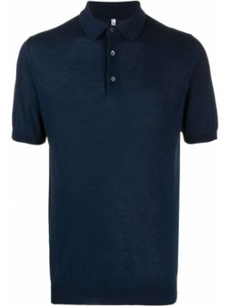 Синяя классическая классическая рубашка с воротником с манжетами Cenere Gb