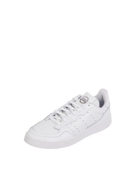 Biały z paskiem skórzany sneakersy zasznurować Adidas Originals