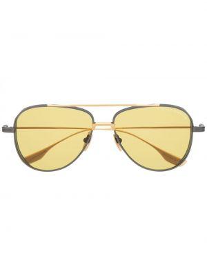 Прямые желтые солнцезащитные очки металлические Dita Eyewear