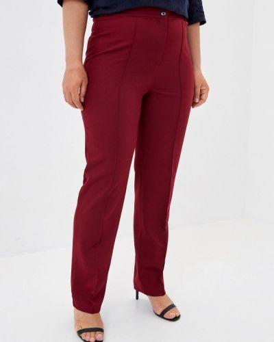 Прямые бордовые брюки Prewoman