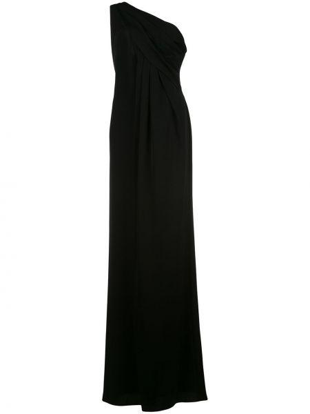 Czarna sukienka długa rozkloszowana Rachel Zoe