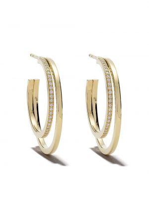 Żółte złote kolczyki sztyfty z diamentem Georg Jensen