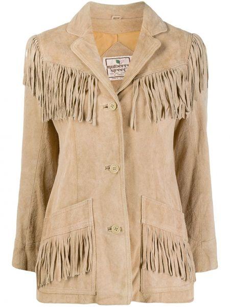 Однобортный пиджак с карманами с бахромой A.n.g.e.l.o. Vintage Cult
