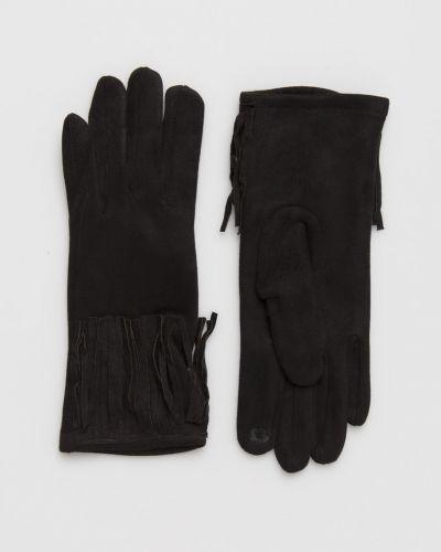 Черные перчатки трикотажные Answear