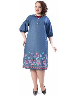 Летнее платье на пуговицах с цветочным принтом Wisell