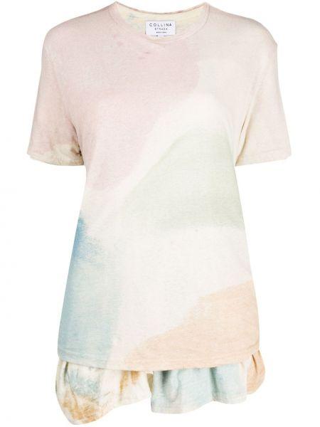 Koszula z krótkim rękawem fioletowy różowy Collina Strada