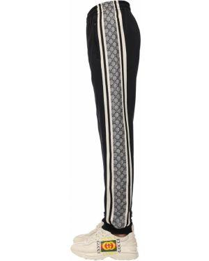Spodnie bawełniane - czarne Gucci
