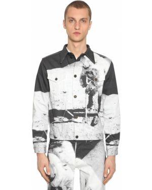 Czarne jeansy z printem Calvin Klein Established 1978
