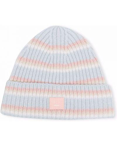 Niebieska czapka z printem Acne Studios