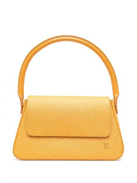 Żółta torebka mini skórzana Louis Vuitton
