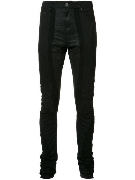 Черные зауженные брюки бязевые скинни Private Stock