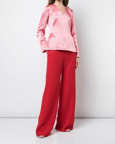 Розовая блузка с длинным рукавом Brandon Maxwell