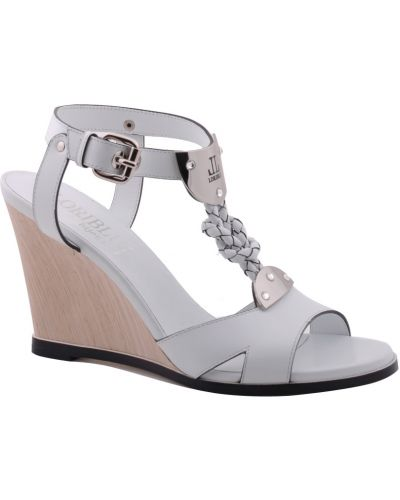 Белые босоножки на каблуке Loriblu