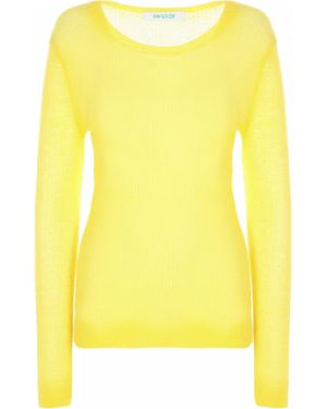 Желтый акриловый свитер с круглым вырезом с поясом Walk Of Shame