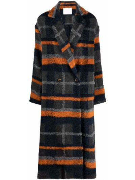 Серое пальто на пуговицах Société Anonyme