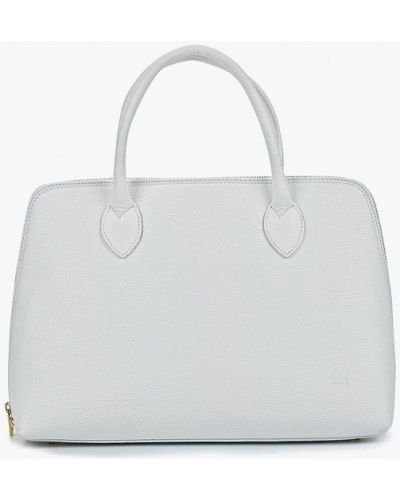 Кожаная сумка белый итальянский Roberto Buono