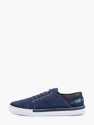 Синие низкие кеды из нубука Nexpero