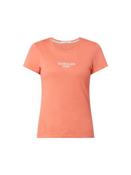 Bawełna pomarańczowy koszula jeansowa z dekoltem okrągły Calvin Klein Jeans