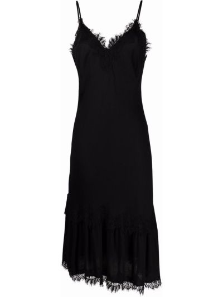Кружевное черное платье трапеция из вискозы Gold Hawk