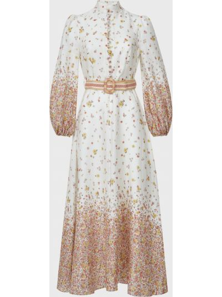 Платье с поясом - белое Zimmermann