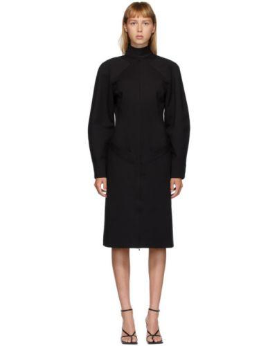 Платье макси с открытой спиной с длинными рукавами с воротником на молнии Situationist